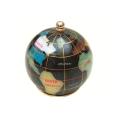 ピカルス天然石地球儀ペーパーウェイト 黒パール