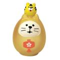 concombre 開運カラー猫だるま 金