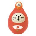 concombre 開運カラー猫だるま 赤