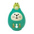 concombre 開運カラー猫だるま 緑