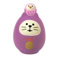 concombre 開運カラー猫だるま 紫