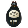 concombre 開運カラー猫だるま 黒