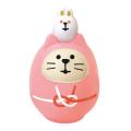 concombre 開運カラー猫だるま 桃