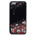 蒔絵iPhone5専用ケース(カバー) スワロフスキー花束(黒)