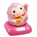 ソーラー幸せ招き申(ピンク)