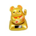「ソーラー幸せ招き子(ねずみ)」(金)