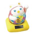 ソーラー招き猫シリーズ 手招きで福を呼び寄せる 「ソーラー幸せ招きあまびえ」