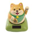 ソーラー招き猫シリーズ 手招きで福を呼び寄せる 「ソーラー幸せ招き犬」柴犬