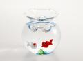きれいな金魚鉢セット 赤&白