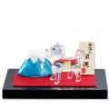 お参り戌と富士山