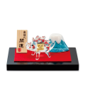 「金の亥(いのしし)と富士山」