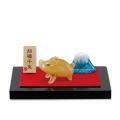 「猛進亥(いのしし)と富士山」