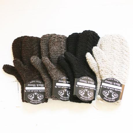BLACK SHEEP Hand Knitted Mitten