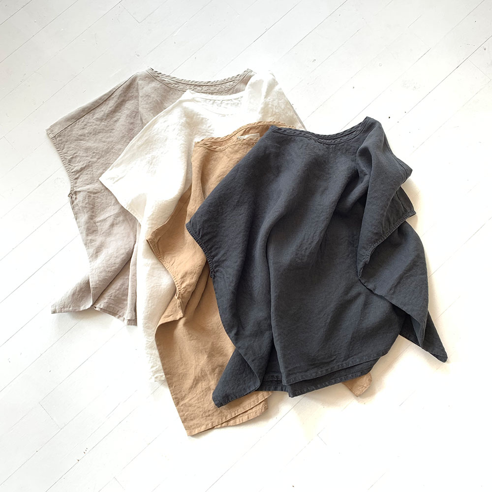Relier Linen Big Pullover Shirts
