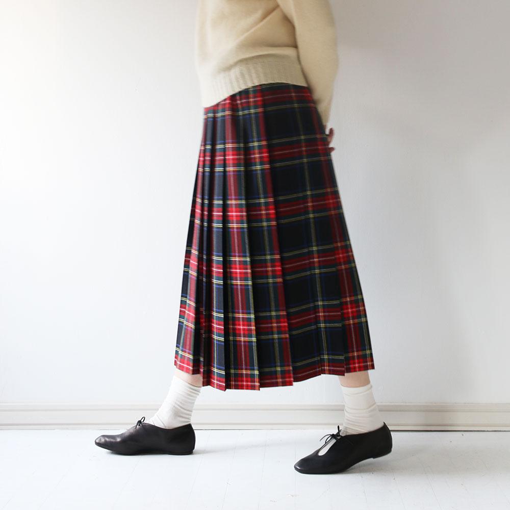 Charpentier de Vaisseau × O'NEIL of DUBLIN Pleated Skirt