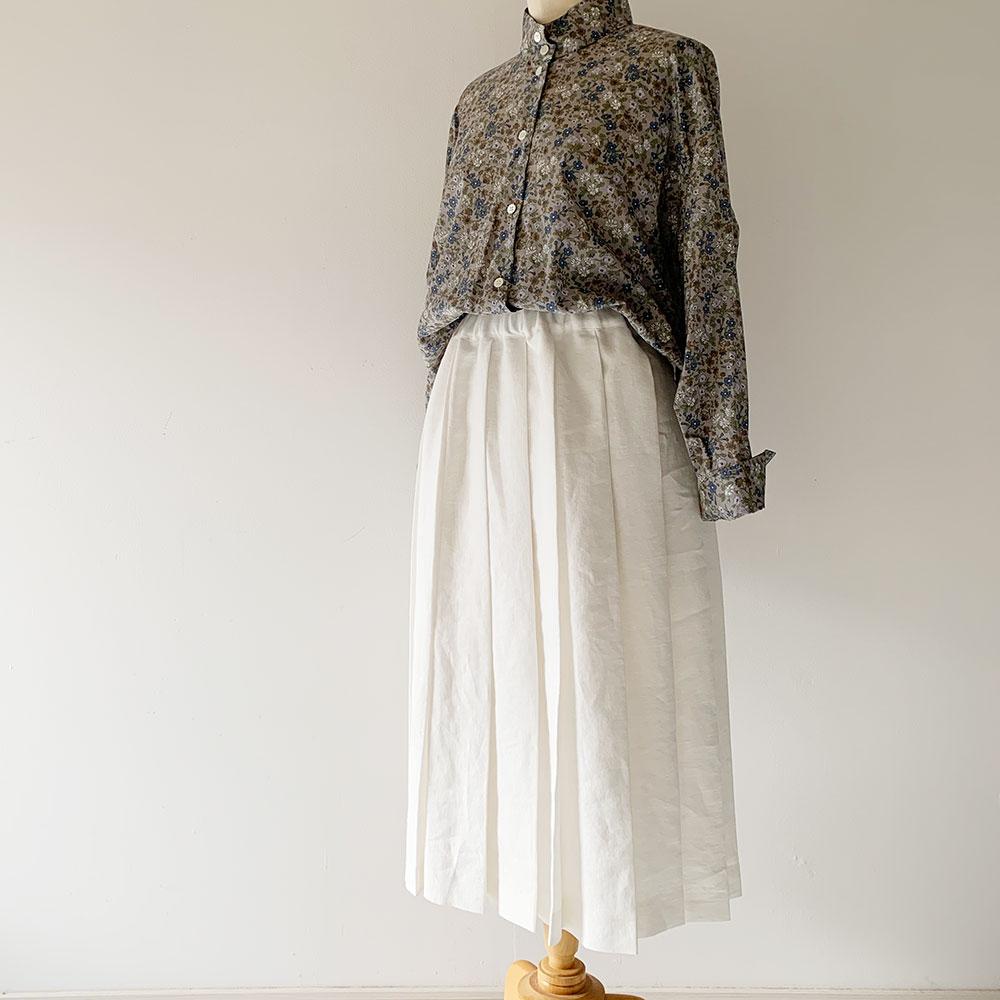Linen Pleated Skirt   《Belle》