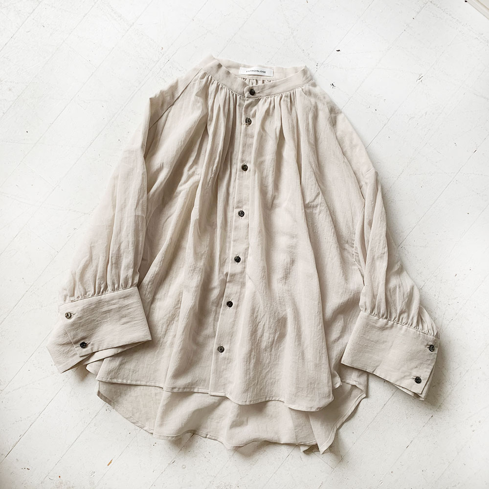 Sheer Voile Gather Blouse