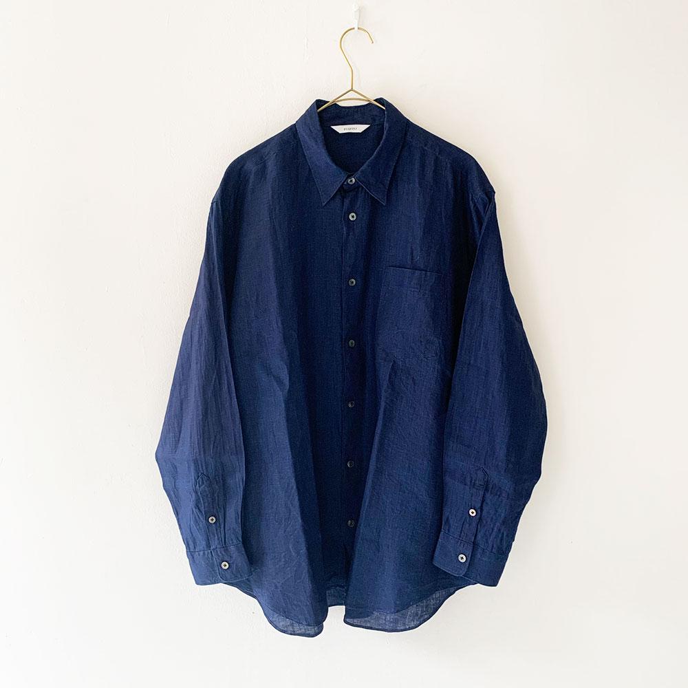 FUJITO  B/S Linen Shirt (Mens)