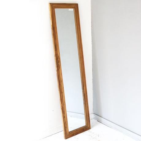 Teak Wood Figure Mirror
