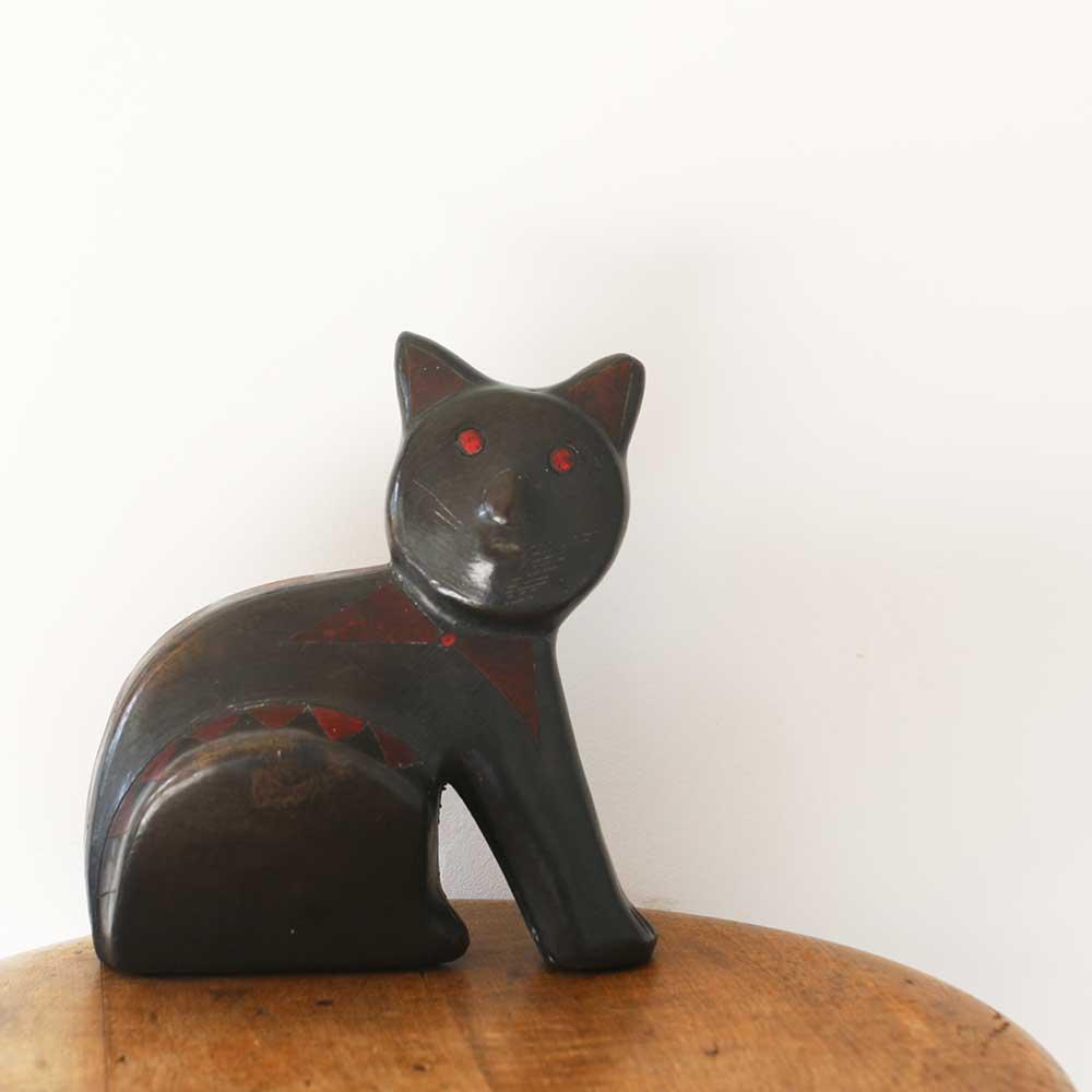 黒猫のオブジェ