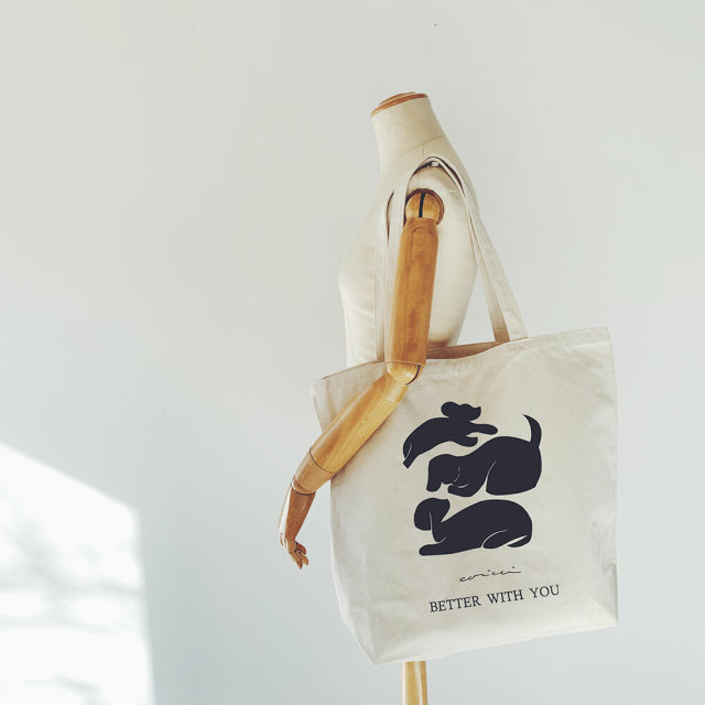 ARTCO.LAB  Eco Bag《 BETTER WITH YOU /Dog》