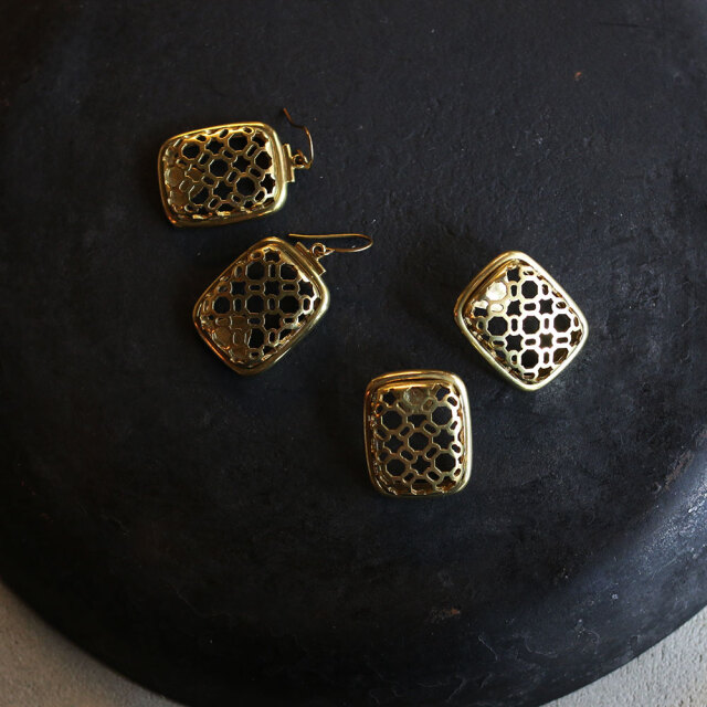 COAS  Brass Pierce&Earring