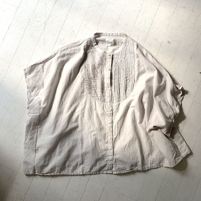 Khadi Cotton Pintuck Wide Blouse