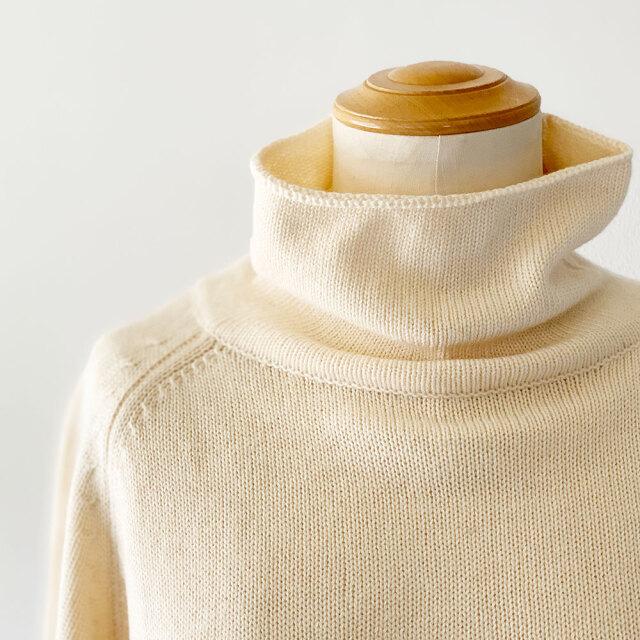 Cotton Cashmere Knit Turtle Neck
