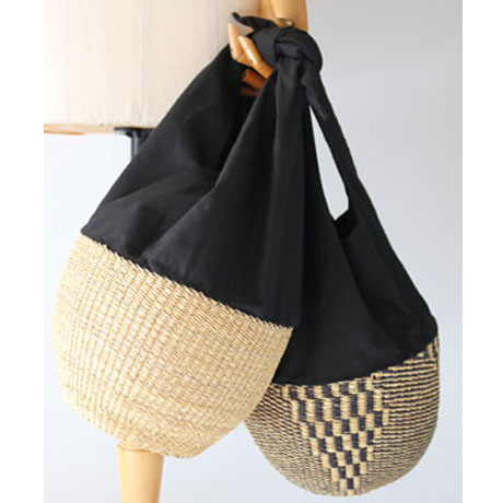 MUUN Motif Basket & Handle Basket