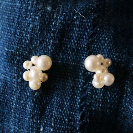 Toile Bijoux  10K+Pearl Pierced Earring