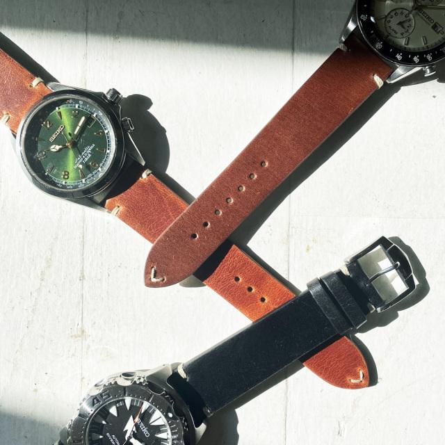 "ROCHET(ZRC) Vintage Spirit""TULSA"" Watch Leather Belts"