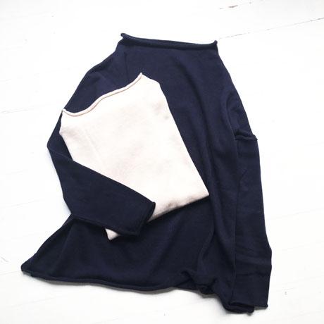 Cotton Cashmere Bottleneck Knit