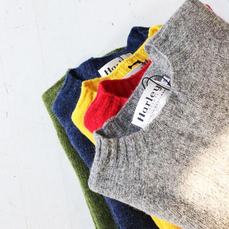 Harley Of Scotland  Shetland C-Neckc Knit (size 38, Unisex)