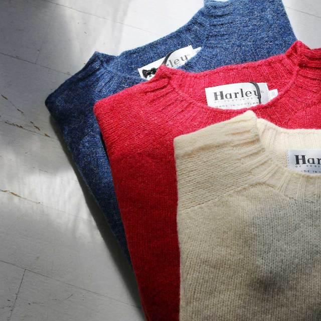 Harley Of Scotland  Shetland C-Neckc Knit (size 36)