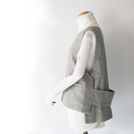 Wool Linen Herringbone Vest