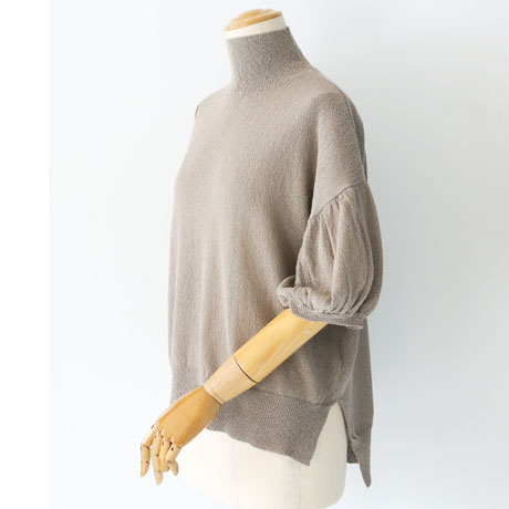 Bottle Neck Puff Sleeve