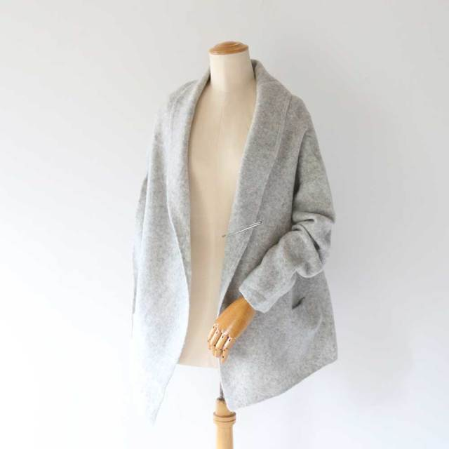 Yak Wool Shawl Collar WideJacket