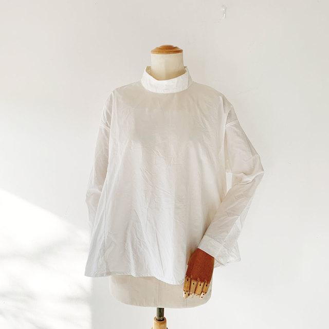 Stand Collar Tent Linen Blouse