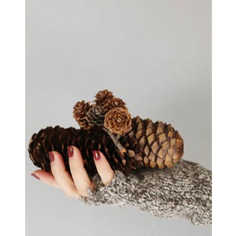 BLACK SHEEP Hand Knitted Mitten Open Finger Glove