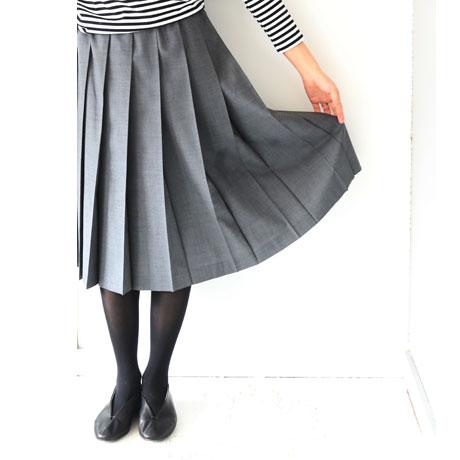 Summer Wool Pleated Skirt