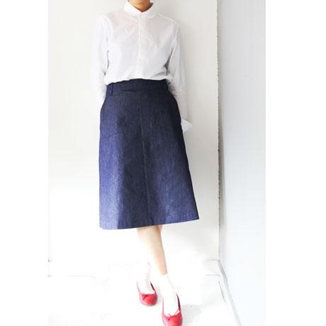 Cotton Linen A-Line Skirt