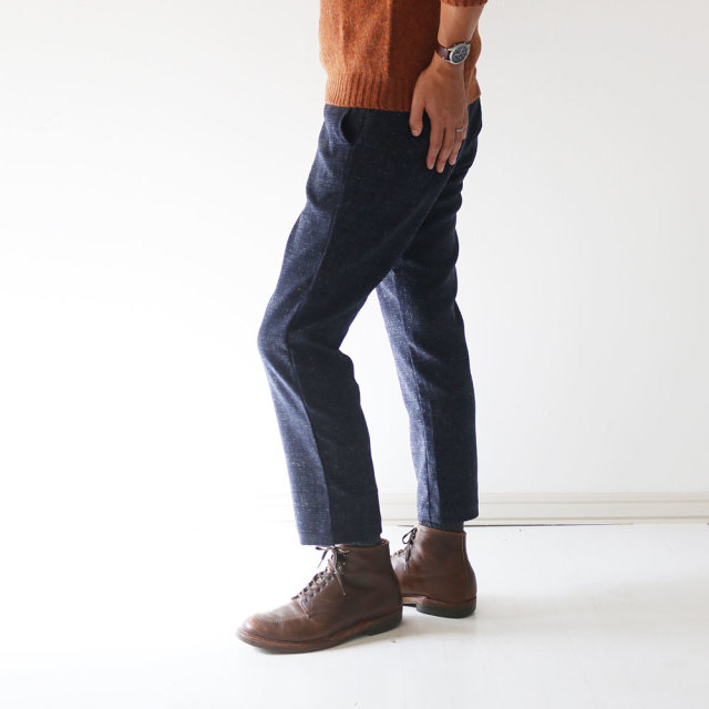 FUJITO Tapered Wool Trousers (Mens)
