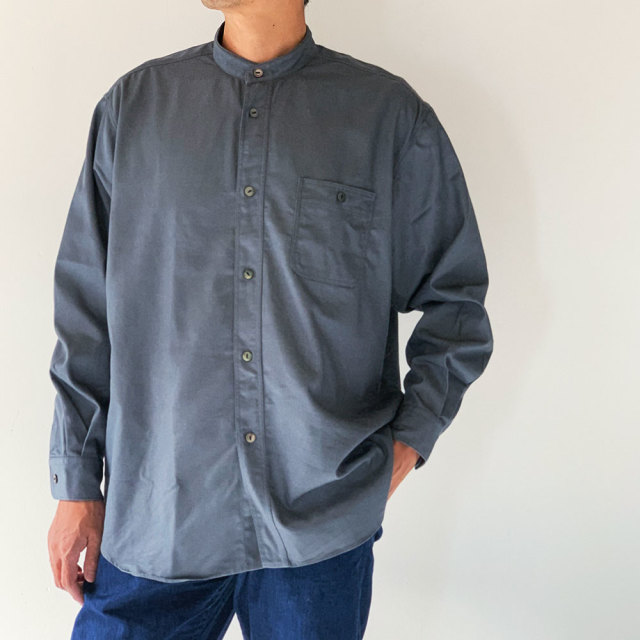 FUJITO B/S Stand Collar Shirt (Mens)