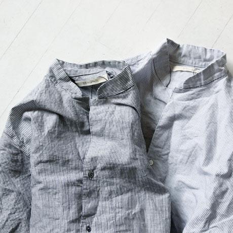 Classic Stand Collar Stripe Shirt