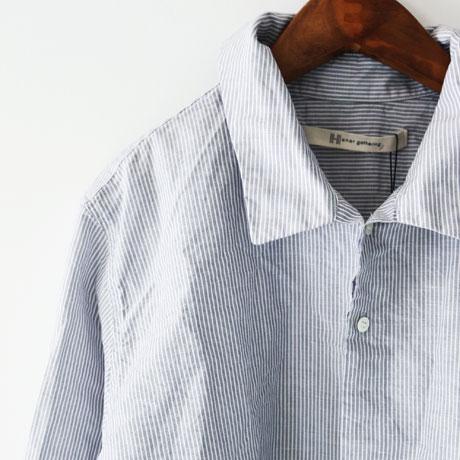 Strange Wide Collar Stripe Shirt