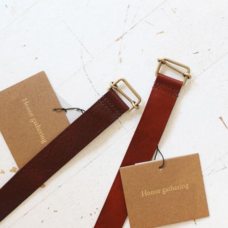 Real Italian Vachetta Leather Belt