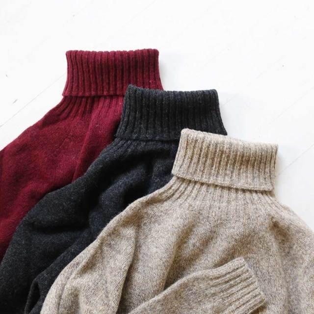Shetland Polo Sweater  (Unisex)