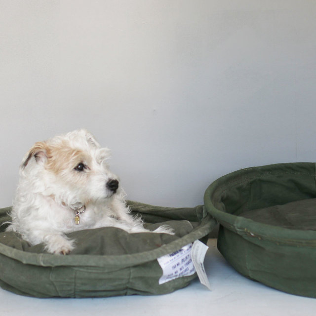 Vintage Tent Fabric Pet Bed