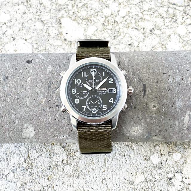 """SEIKO """"SQ100""""Chronograph Quartz 1998's"""