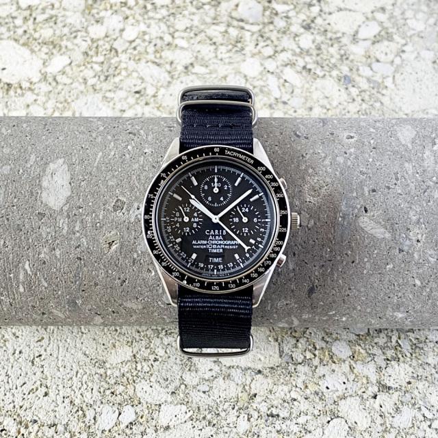 "SEIKO ALBA ""CARIB"" Alarm-Chronograph Quartz 1992's"